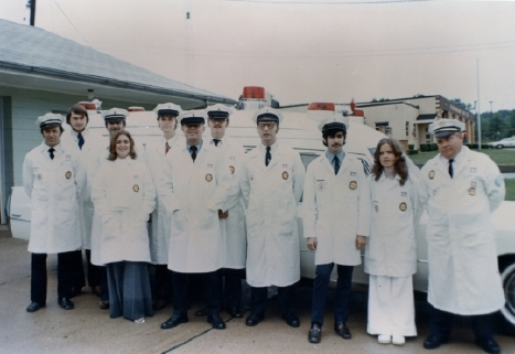 Uniforms and Cadillac Ambulance