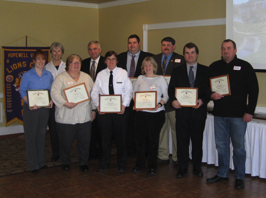 Lions Club Fire and EMS Awardees