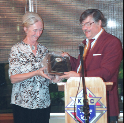 Julie Aberger receives Shield Award
